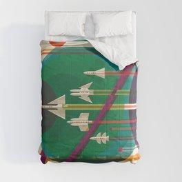 NASA Retro Space Travel Poster #5 Comforters
