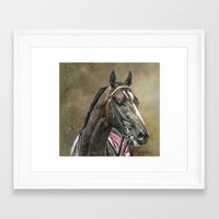 racing Framed Art Prints featuring Racing Thoroughbred by tarrby/Brian Tarr