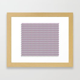 Pink and gray kittens snuggle pattern Framed Art Print