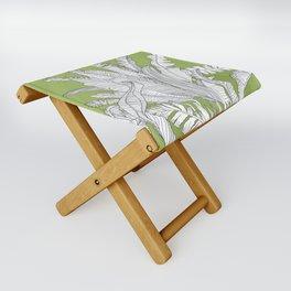 Banana Leaves Illustration - Green Folding Stool