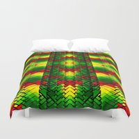 jamaica Duvet Covers featuring JAMROCK by Chrisb Marquez