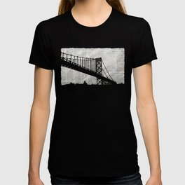 Paper City, Newspaper Bridge Collage T-shirt