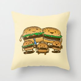 BurgerFam Throw Pillow