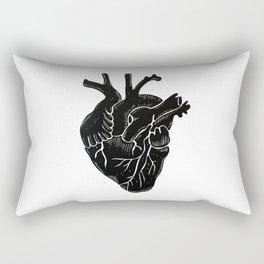 Black Heart II Rectangular Pillow