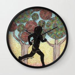 Autumn Run Wall Clock