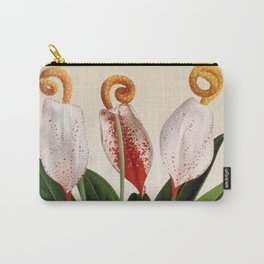 Anthurium scherzerianum old plate Carry-All Pouch