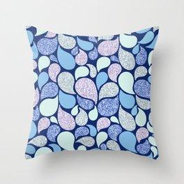 Glitter Fantasy Paisley Throw Pillow