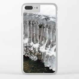 Ice Columns Clear iPhone Case