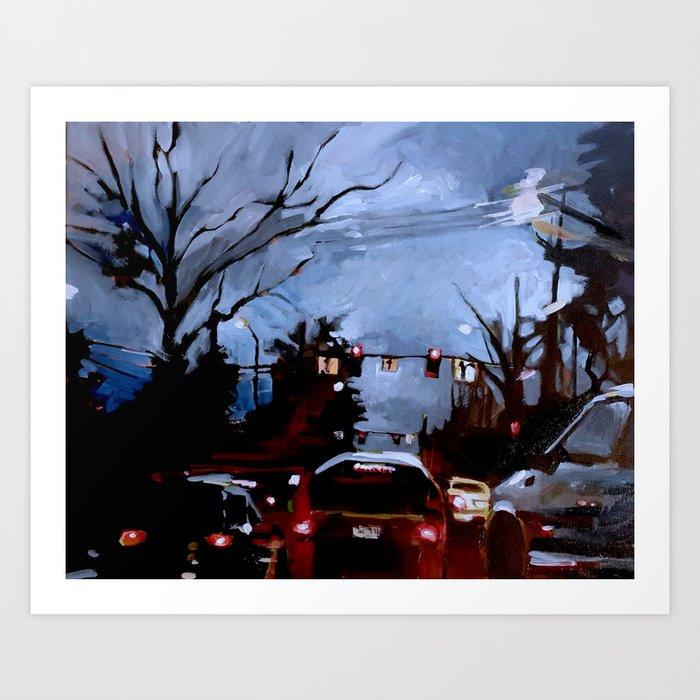 Rainy on 13th Art Print