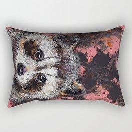 Baby Raccoon Rectangular Pillow