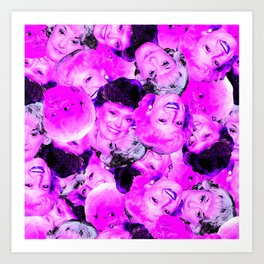 Golden Girls Toss in Electric Pop Pink Art Print