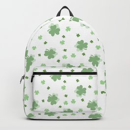 Clover Leaves Seamless Pattern Backpack