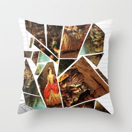 Lady's Wages Throw Pillow