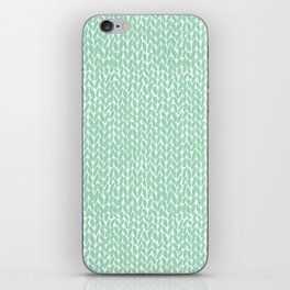 Hand Knit Mint iPhone Skin