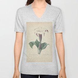 datura laevis Redoute Roses 4 Unisex V-Neck
