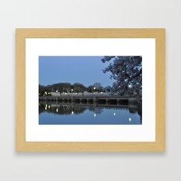 Dawn and Blossoms Framed Art Print