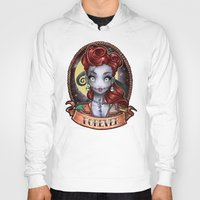 pinup Hoodies featuring FOREVER pinup by Tim Shumate