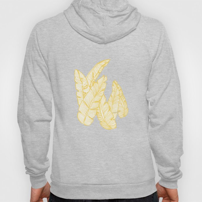 Banana Leaves on Yellow #society6 #decor #buyart Hoody