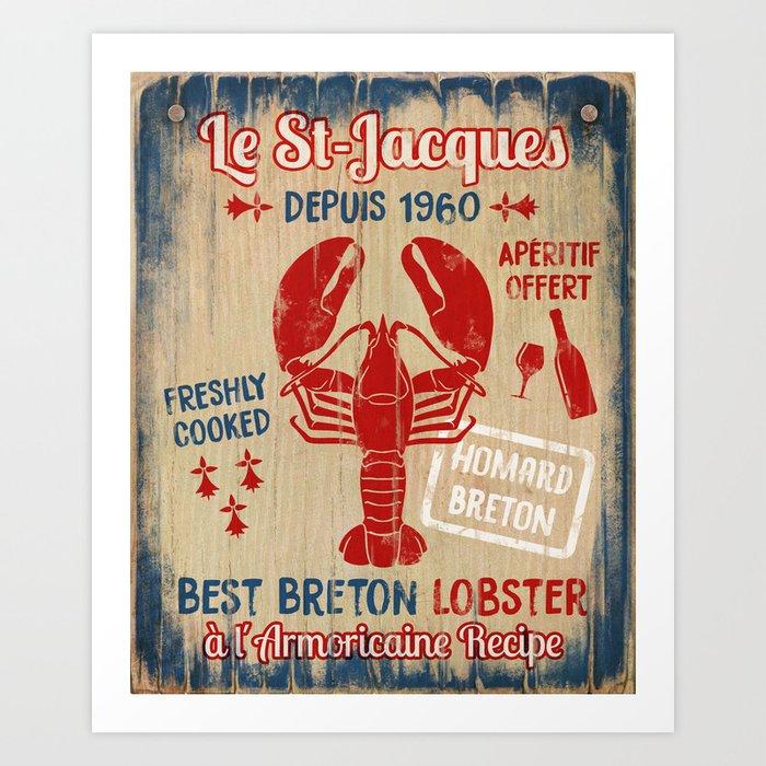 Le St-Jacques Lobster Shack Art Print