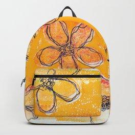 Sketchy Flower Sunset Backpack