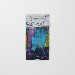 TETRIS, Abstract  Acrylic Painting, colorful mosaic Hand & Bath Towel