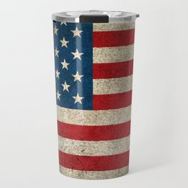 Old and Worn Distressed Vintage Flag of The United States Travel Mug
