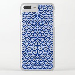 Watercolor Mermaid Blue Sapphire Clear iPhone Case