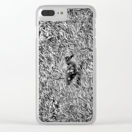 Sad and Lonely - Black & White Clear iPhone Case