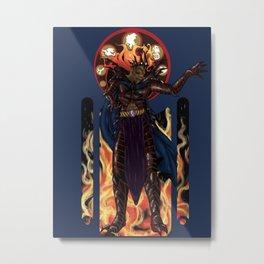 Melkor Art Nouveau Metal Print