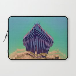 Surfing The Big Wave Searching Mermaids Laptop Sleeve