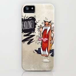 Angry Boss Screaming Deadline iPhone Case