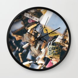 Love Locks in Paris Wall Clock