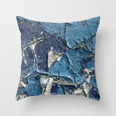 Blue Crumble Throw Pillow