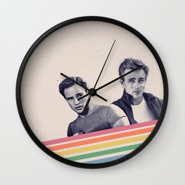 Technicolor Icons Wall Clock