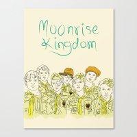 moonrise kingdom Canvas Prints featuring Moonrise Kingdom by Elly Liyana
