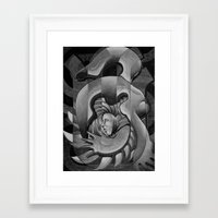 trip Framed Art Prints featuring Trip by Mouseizm