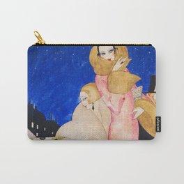 Nights on Broadway, Jazz Age Flapper New York City Art Deco portrait painting by Gerda Wegener Carry-All Pouch