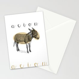 A  e  i  o  u    borriquito como tú Stationery Cards