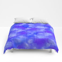 Abstract Clouds - Rich Royal Blue Comforters