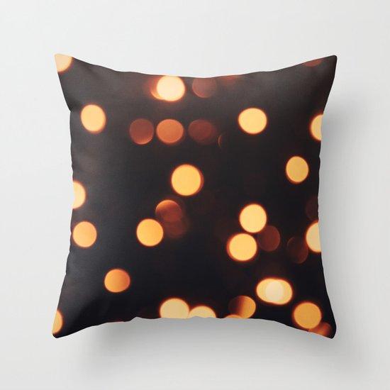 Christmas Lights II Throw Pillow