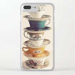 teacups Clear iPhone Case