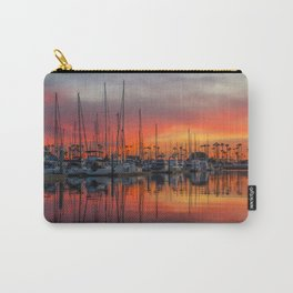 Red Sky At Alamitos Bay Marina Carry-All Pouch