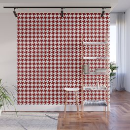 HoundsTooth Samba Sultry Red Wall Mural