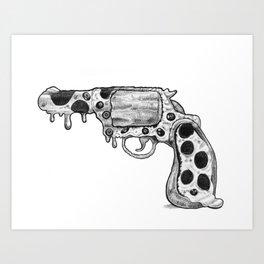Pizza Gun Art Print
