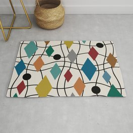 Colorful Mid Century Modern Geometric Abstract 124 Rug