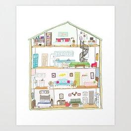Urban Dollhouse Art Print