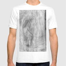 ThE cLaRiTy Of ThE sTrAiGhT lInE White SMALL Mens Fitted Tee