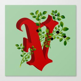 Letter 'V' is for Vaccinium Canvas Print