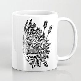 Indian chief skull head Coffee Mug