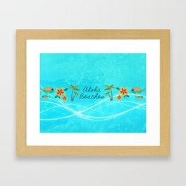 Aloha Beaches Framed Art Print